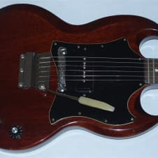 Gibson SG Junior 1968 Red Wine Showroom Condition Original Vibrola P90 And Hard Case image