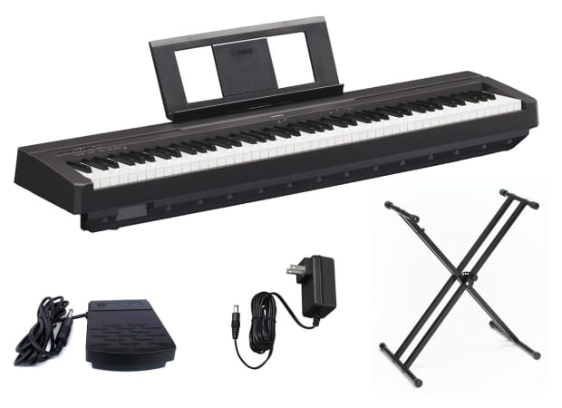 yamaha p45b digital piano with double x keyboard stand reverb. Black Bedroom Furniture Sets. Home Design Ideas
