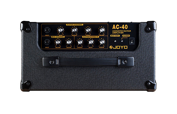 joyo ac 40 acoustic stereo rechargeable guitar amp 40 watt reverb. Black Bedroom Furniture Sets. Home Design Ideas