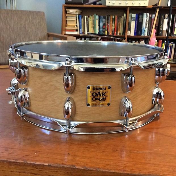 yamaha oak custom snare drum natural 5 1 2 x 14 reverb. Black Bedroom Furniture Sets. Home Design Ideas