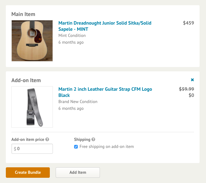 Choose Add-on price