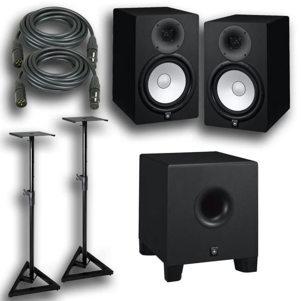 yamaha hs8 powered studio speaker monitor pair hs8s subwoofer reverb. Black Bedroom Furniture Sets. Home Design Ideas