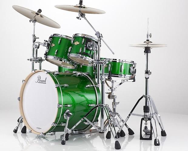 pearl mcx masters shamrock green 4 pc drum set 22x18 12x9 reverb. Black Bedroom Furniture Sets. Home Design Ideas