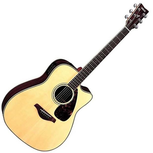 Yamaha Fgx730sc Acoustic Electric Guitar 2 Piece Bundle