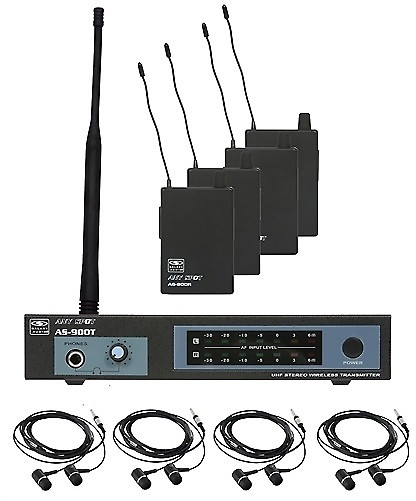 galaxy as 900 4 wireless in ear monitor system band pack freq reverb. Black Bedroom Furniture Sets. Home Design Ideas
