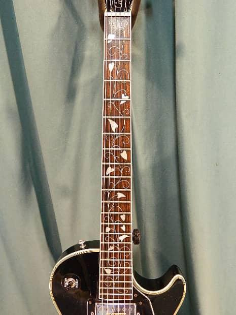 A Minor Guitar >> Aria Pro II Custom c.1975 Black   Reverb