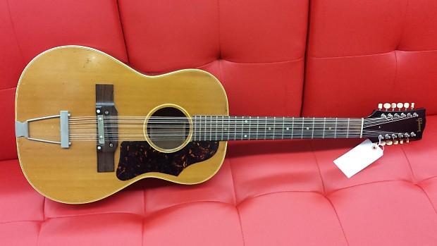 gibson b 25 12 12 string acoustic guitar 1966 natural reverb. Black Bedroom Furniture Sets. Home Design Ideas