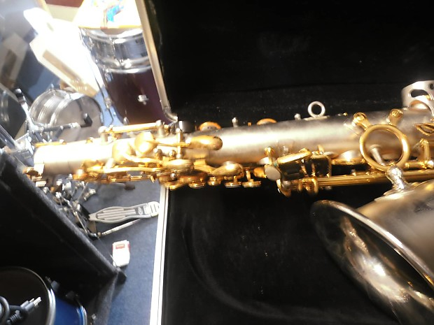 suzuki musique alto sax w case and mouthpiece reverb
