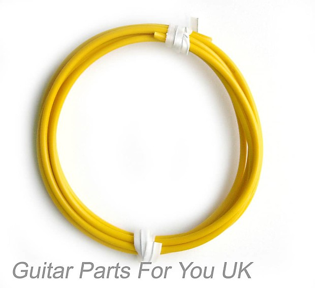1 Meter Yellow Electric Guitar Hook Up Wire 22Awg 16/02Mm | Reverb
