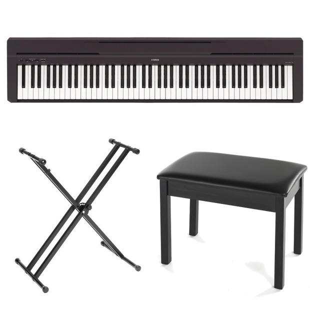 Yamaha P115b 88 Key Digital Piano Black New Free Piano Bench And X Stand Reverb