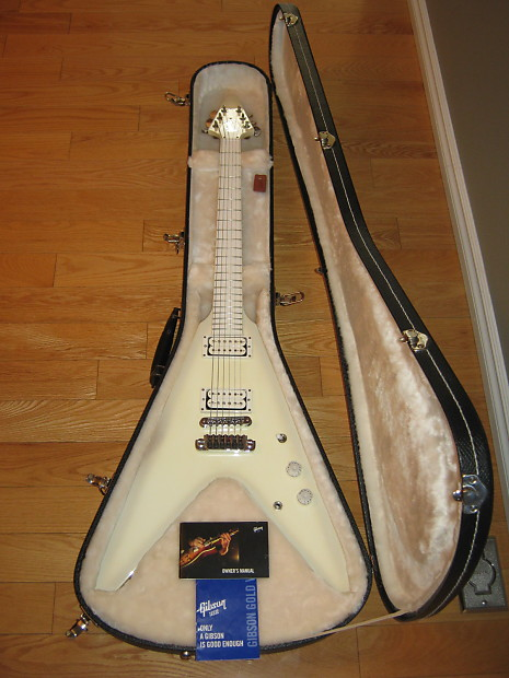 gibson snow falcon flying v 2013 snow white priced to sell reverb. Black Bedroom Furniture Sets. Home Design Ideas