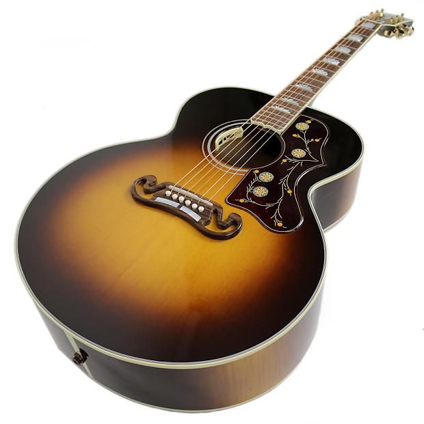 used gibson sj 200 standard jumbo acoustic electric guitar in reverb. Black Bedroom Furniture Sets. Home Design Ideas