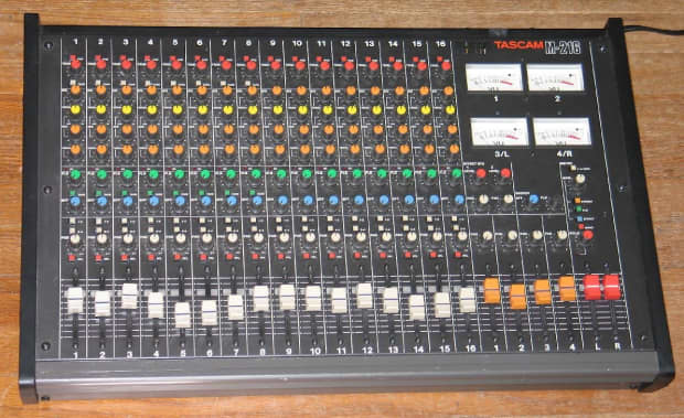 Teac Tascam M 216 80 S Classic Recording Mixer 16 Channel