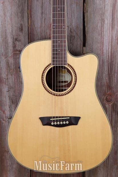 washburn wd12sce dreadnought cutaway acoustic electric guitar reverb. Black Bedroom Furniture Sets. Home Design Ideas