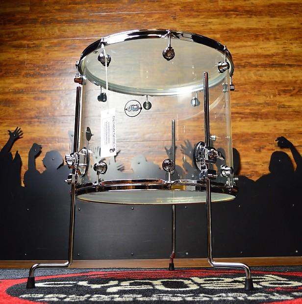 Dw acrylic design series drum 16 x 18 floor tom clear for 18 floor tom