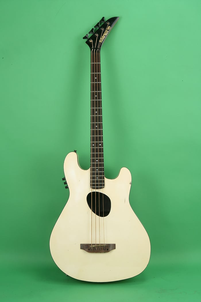 kramer ferrington acoustic electric bass 1985 white reverb. Black Bedroom Furniture Sets. Home Design Ideas