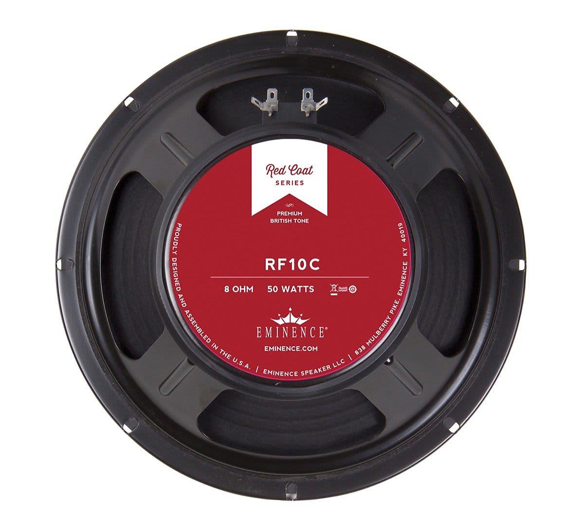 Eminence Rf10c Redcoat Red Fang Guitar Speaker 10 Quot 8