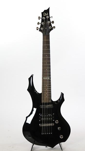 esp ltd f jr junior size electric guitar black w gig bag reverb. Black Bedroom Furniture Sets. Home Design Ideas