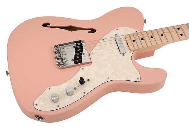 fender custom shop 1969 telecaster thinline shell pink reverb. Black Bedroom Furniture Sets. Home Design Ideas