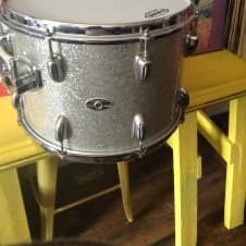 """Slingerland 14"""" Rack Tom 60's/70's Silver Sparkle image"""