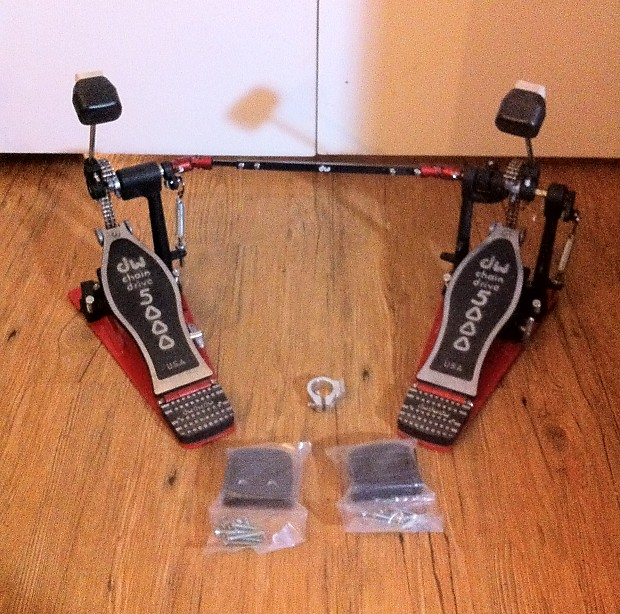 dw 5000 double bass drum pedal usa mid 2000 39 s black and red reverb. Black Bedroom Furniture Sets. Home Design Ideas