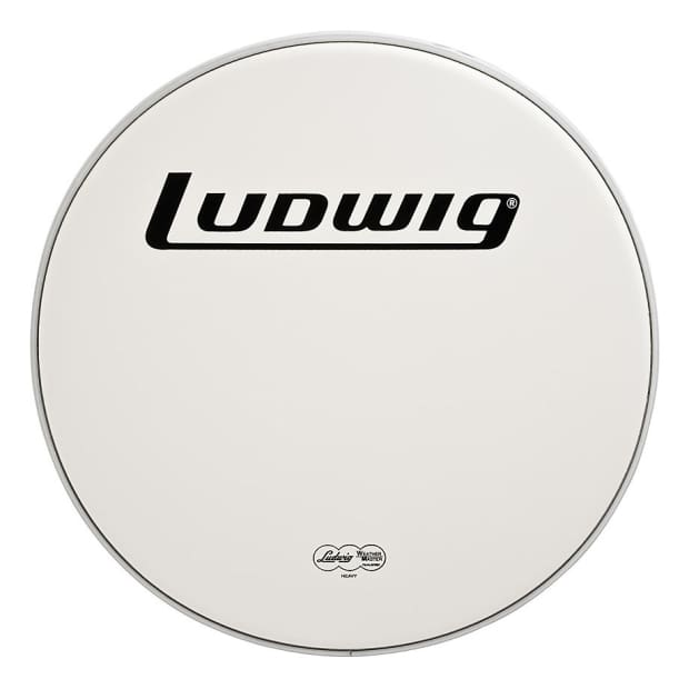 ludwig 22 inch heavy coated bass drum head w logo reverb. Black Bedroom Furniture Sets. Home Design Ideas