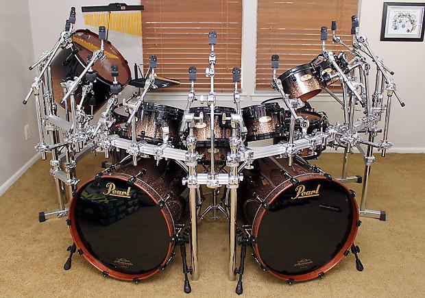 Pearl Masterworks 2015 16-Piece Custom Monster Drumkit ...