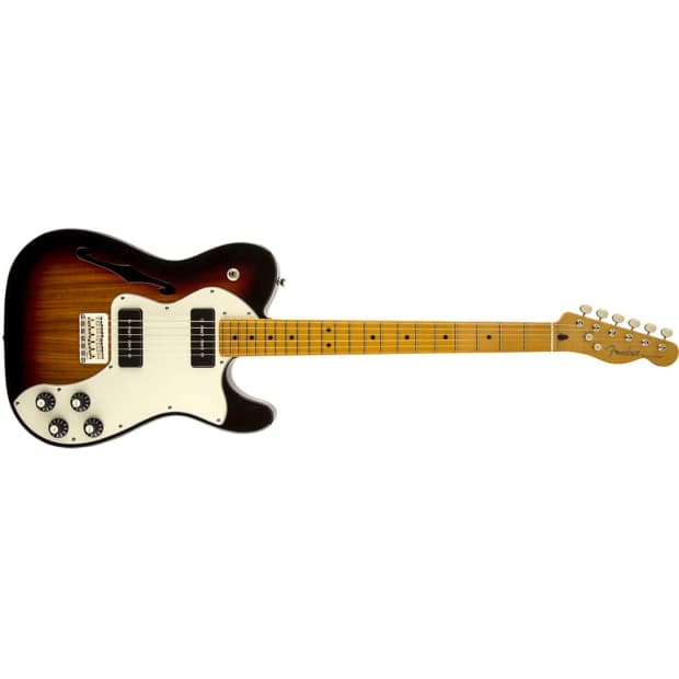 fender modern player telecaster thinline deluxe electric reverb
