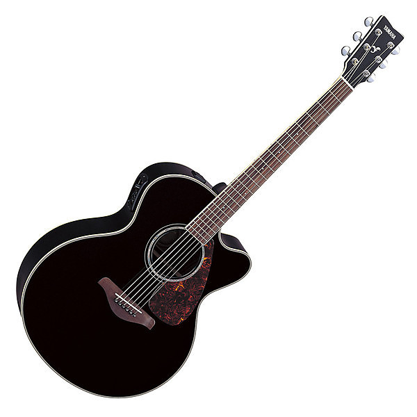 yamaha fjx730sc acoustic electric guitar black preowned reverb. Black Bedroom Furniture Sets. Home Design Ideas