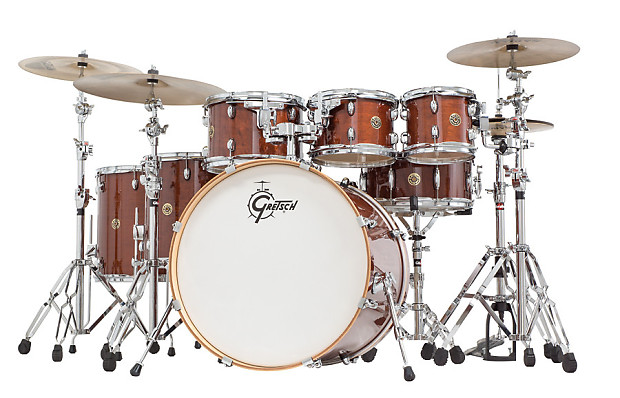 gretsch catalina maple 7 piece drum kit w padded bags walnut reverb. Black Bedroom Furniture Sets. Home Design Ideas