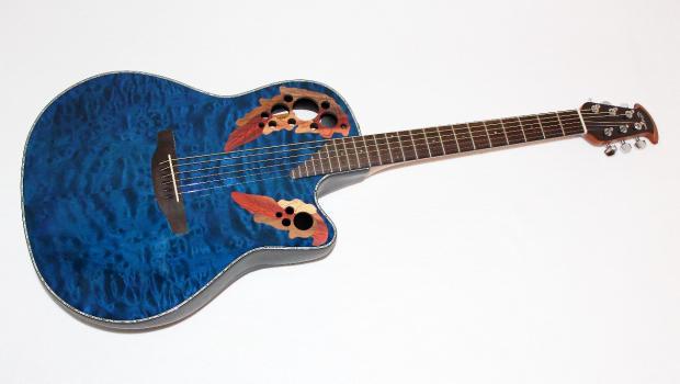 ovation ce44p 8tq celebrity elite plus blue acoustic electric guitar reverb. Black Bedroom Furniture Sets. Home Design Ideas