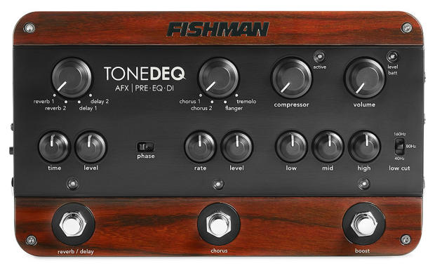 fishman tonedeq guitar bass preamp eq di w xlr out free 910 r ac adapter reverb. Black Bedroom Furniture Sets. Home Design Ideas