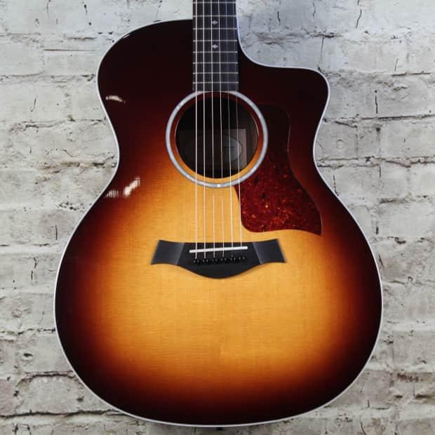 taylor 214ce dlx sunburst acoustic electric guitar reverb. Black Bedroom Furniture Sets. Home Design Ideas