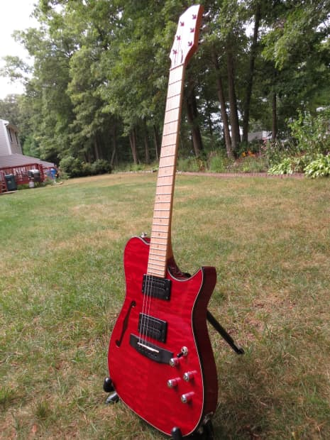 Carvin ae crimson red quilted maple reverb