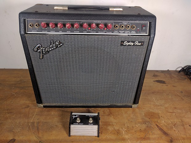 fender 85 eighty five red knob amp w footswitch made in reverb. Black Bedroom Furniture Sets. Home Design Ideas