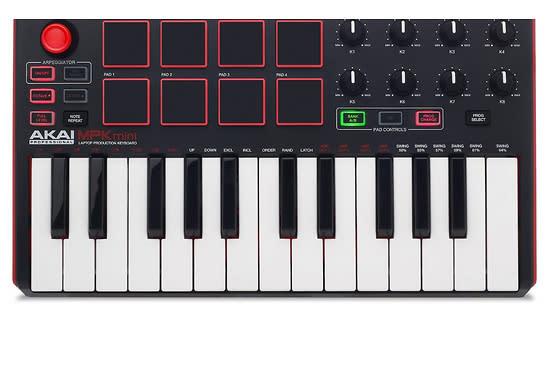 akai professional mpk mini mkii 25 key ultra portable usb midi keyboard pad controller. Black Bedroom Furniture Sets. Home Design Ideas