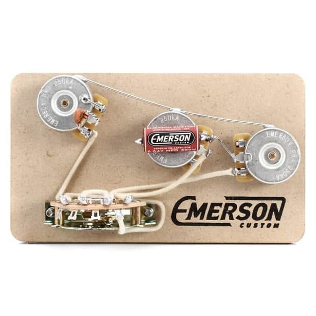 emerson custom strat 5-way blender prewired kit | reverb telecaster wiring diagram emerson fender squier telecaster wiring diagram