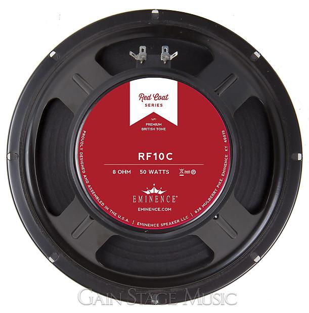Eminence Rf10c 10 Quot Guitar Speaker Red Coat Series 8 Ohm 50
