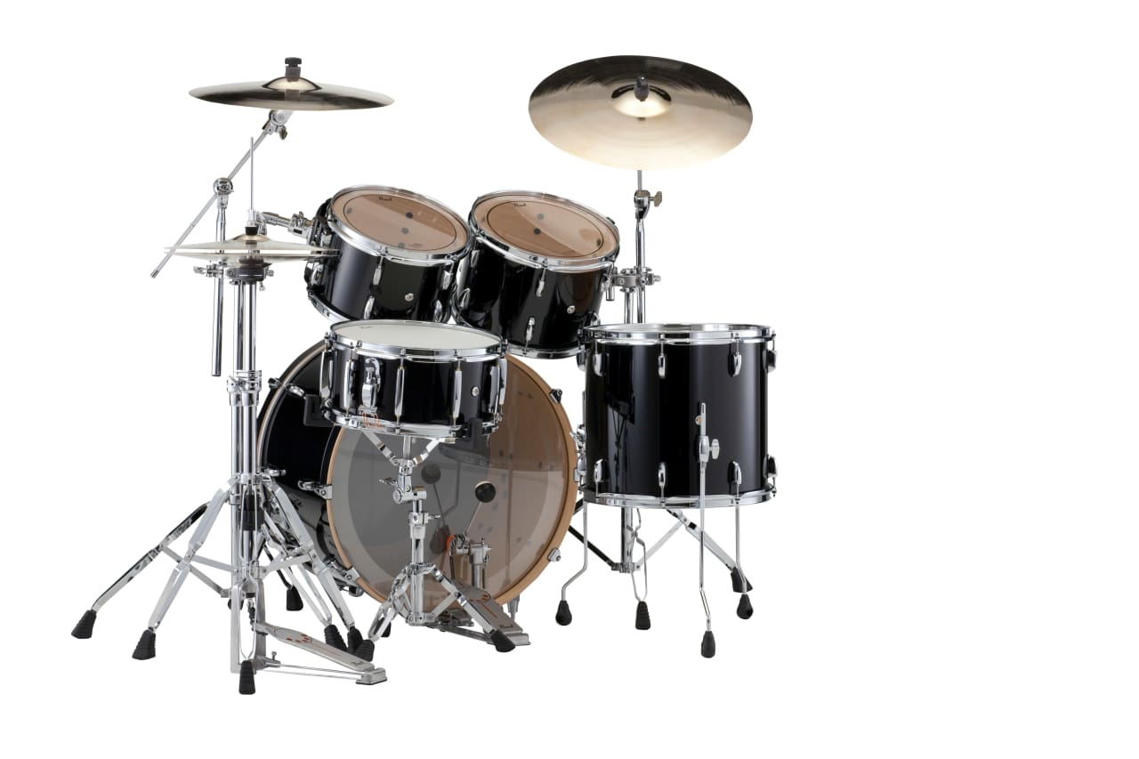 Pearl session studio classic piano black drum set 24x15 for 16x14 floor tom