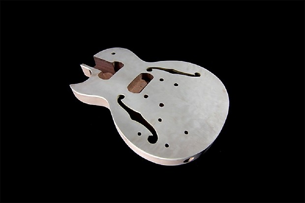 diy left handed semi hollow body guitar kit mahogany body reverb. Black Bedroom Furniture Sets. Home Design Ideas