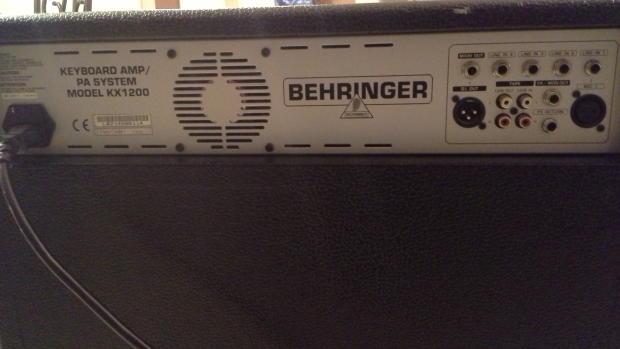 behringer kx1200 120 watt 4 channel keyboard pa drum amp reverb. Black Bedroom Furniture Sets. Home Design Ideas