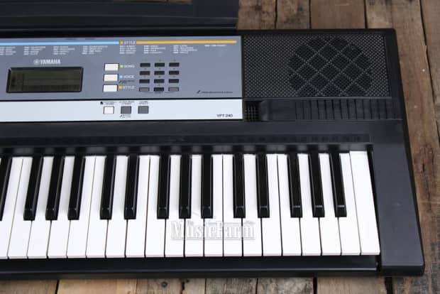 yamaha ypt 240 portable 61 key digital keyboard with power. Black Bedroom Furniture Sets. Home Design Ideas