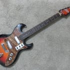 Vintage 1960s Tele-Star Teisco Solid Body Sunburst Offset Guitar Early Ibanez Claw Cutaway Design image