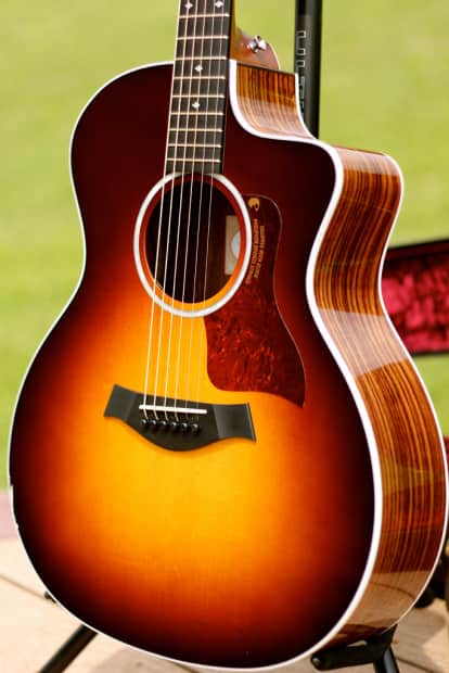 2015 taylor 214ce deluxe sunburst w es2 new finish blem reverb. Black Bedroom Furniture Sets. Home Design Ideas