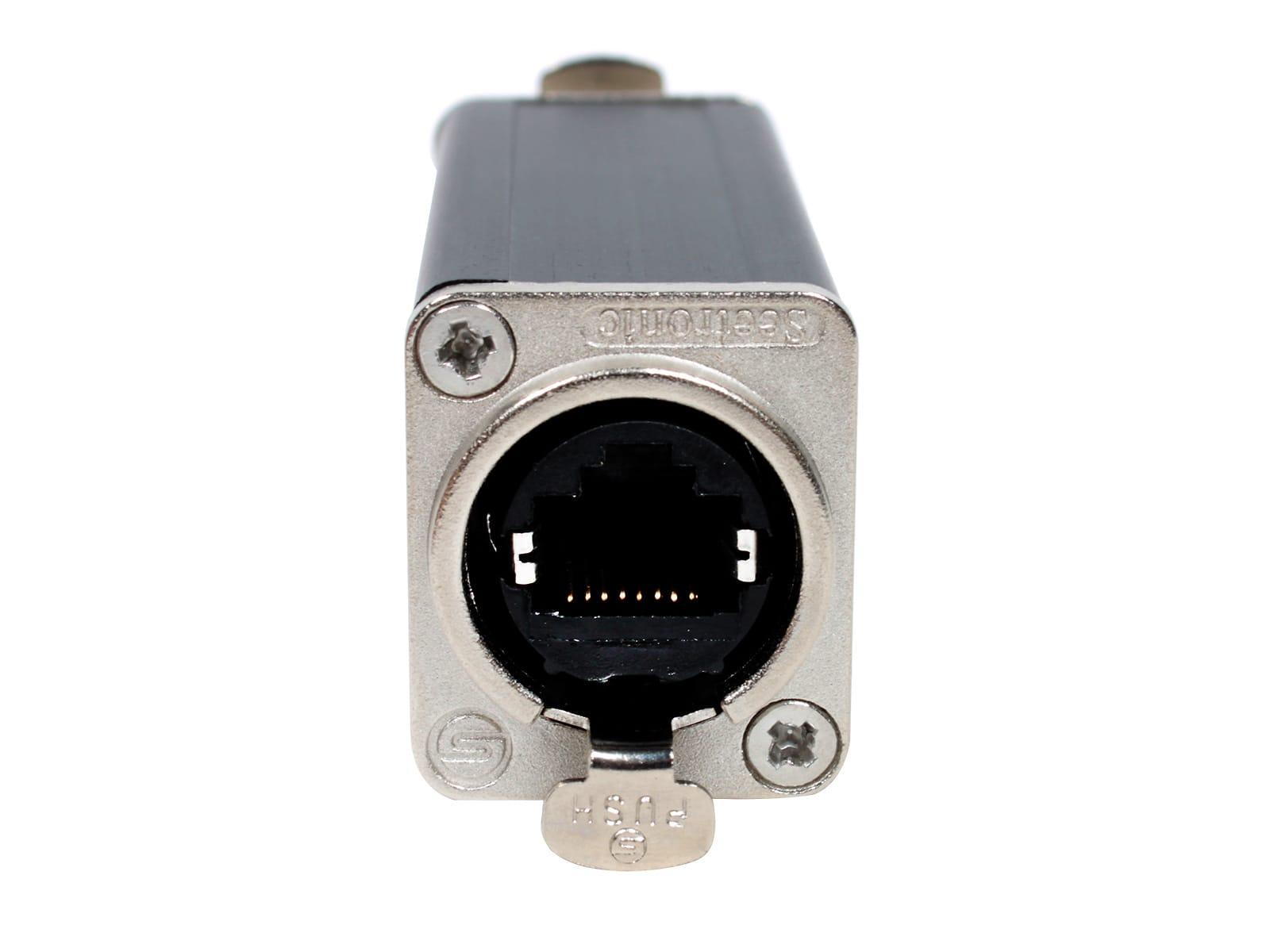 Seetronic SE8FF-X Tactical Ethernet Coupler, Black