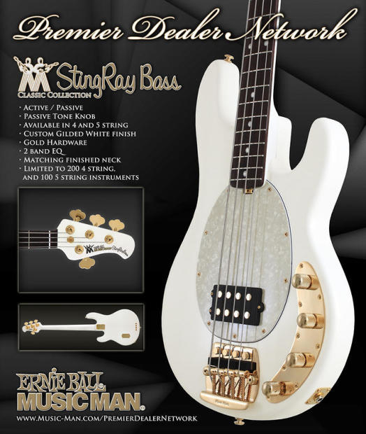 2011 music man limited edition classic stingray 5 bass pdn gilded white reverb. Black Bedroom Furniture Sets. Home Design Ideas