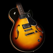 Godin Montreal Premiere TriplePlay Semi-Hollow Electric Guitar Sunburst image