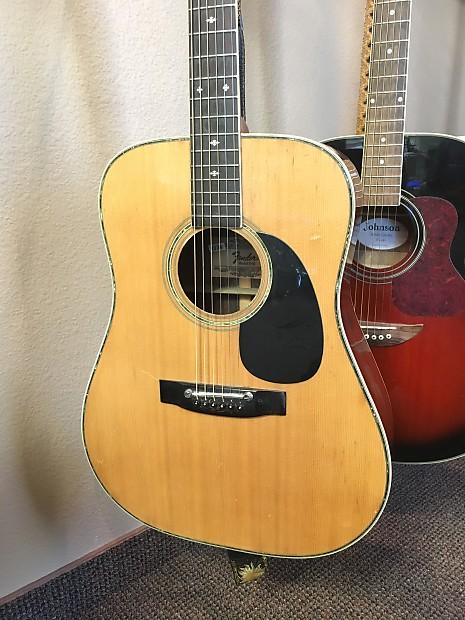 fender f 65 1970 39 s acoustic guitar w case made in japan reverb. Black Bedroom Furniture Sets. Home Design Ideas