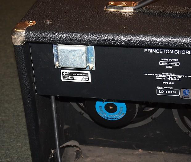 fender princeton chorus pr 82 2x10 electric guitar combo amp reverb. Black Bedroom Furniture Sets. Home Design Ideas