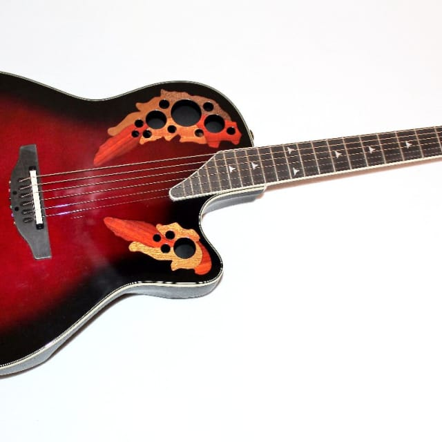 Ovation Elite 2078 AX Deep Contour Acoustic-Electric Guitar w/ Case image